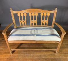 c1900 Swedish Art Nouveau Rural Pine Bench Vintage Grainsack Seat - 1350992