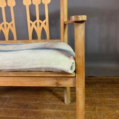 c1900 Swedish Art Nouveau Rural Pine Bench Vintage Grainsack Seat - 1350994