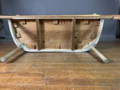 c1900 Swedish Art Nouveau Rural Pine Bench Vintage Grainsack Seat - 1350996