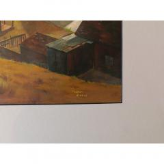 chet Engle Virginia City by Chet Engles Oil on Board - 1096845