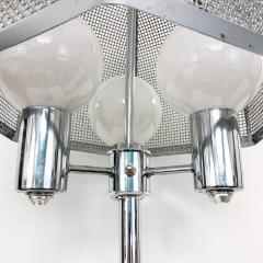 clover lamp company Chrome Floor Lamp with Chrome Cane Shade by the Clover Lamp Company 1960s - 1256162