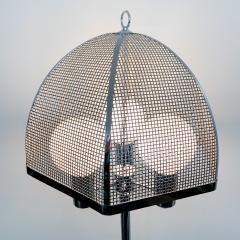 clover lamp company Chrome Floor Lamp with Chrome Cane Shade by the Clover Lamp Company 1960s - 1256163