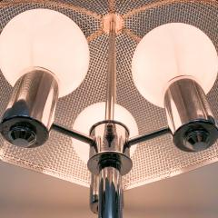 clover lamp company Chrome Floor Lamp with Chrome Cane Shade by the Clover Lamp Company 1960s - 1256167