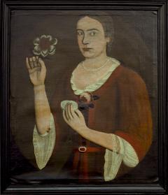 Pieter Vanderlyn Portrait of Elizabeth Van Dyck Vosburg - 1995