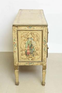 italian Neoclassic Painted an Parcel Gilt Two Drawer Commode Piedmontese - 60929