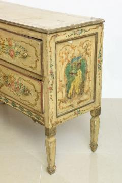 italian Neoclassic Painted an Parcel Gilt Two Drawer Commode Piedmontese - 60930