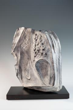 large blue grey ceramic sculpture by Marcello Fantoni - 939798