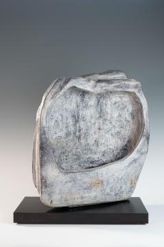 large blue grey ceramic sculpture by Marcello Fantoni - 939799