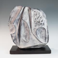 large blue grey ceramic sculpture by Marcello Fantoni - 939800