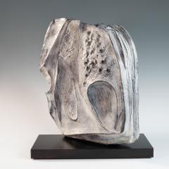 large blue grey ceramic sculpture by Marcello Fantoni - 939801