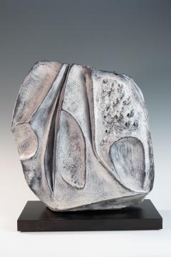 large blue grey ceramic sculpture by Marcello Fantoni - 939802