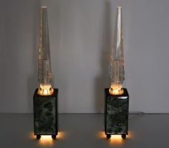 pair of obelisk lamps in the style of Serge Roche - 1325401