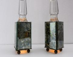 pair of obelisk lamps in the style of Serge Roche - 1325402