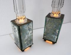 pair of obelisk lamps in the style of Serge Roche - 1325404