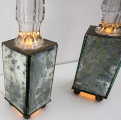 pair of obelisk lamps in the style of Serge Roche - 1325405
