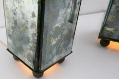 pair of obelisk lamps in the style of Serge Roche - 1325407