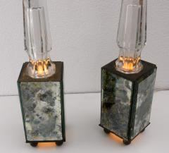 pair of obelisk lamps in the style of Serge Roche - 1325408