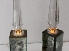 pair of obelisk lamps in the style of Serge Roche - 1325409