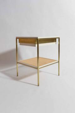 reGeneration 392 Lacquered Bedside Tables with Solid or Caned Shelves - 157063
