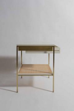 reGeneration 392 Lacquered Bedside Tables with Solid or Caned Shelves - 157064