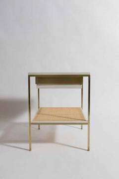 reGeneration 392 Lacquered Bedside Tables with Solid or Caned Shelves - 157065