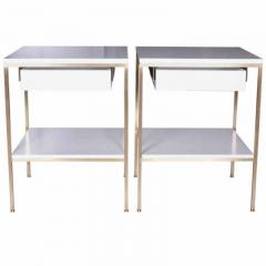 reGeneration 392 Lacquered Bedside Tables with Solid or Caned Shelves - 157067