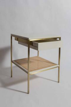 reGeneration 392 Lacquered Bedside Tables with Solid or Caned Shelves - 157068