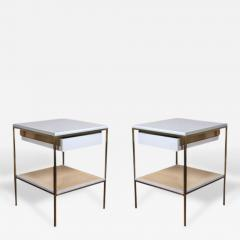 reGeneration 392 Lacquered Bedside Tables with Solid or Caned Shelves - 157637
