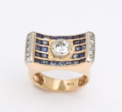 retro diamond saphire ring - 1733676