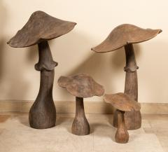 set of four wooden mushrooms early 20th century - 1867611