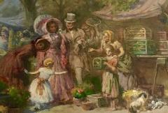 the market day by Imre GERGELY 1868 1914  - 1047421