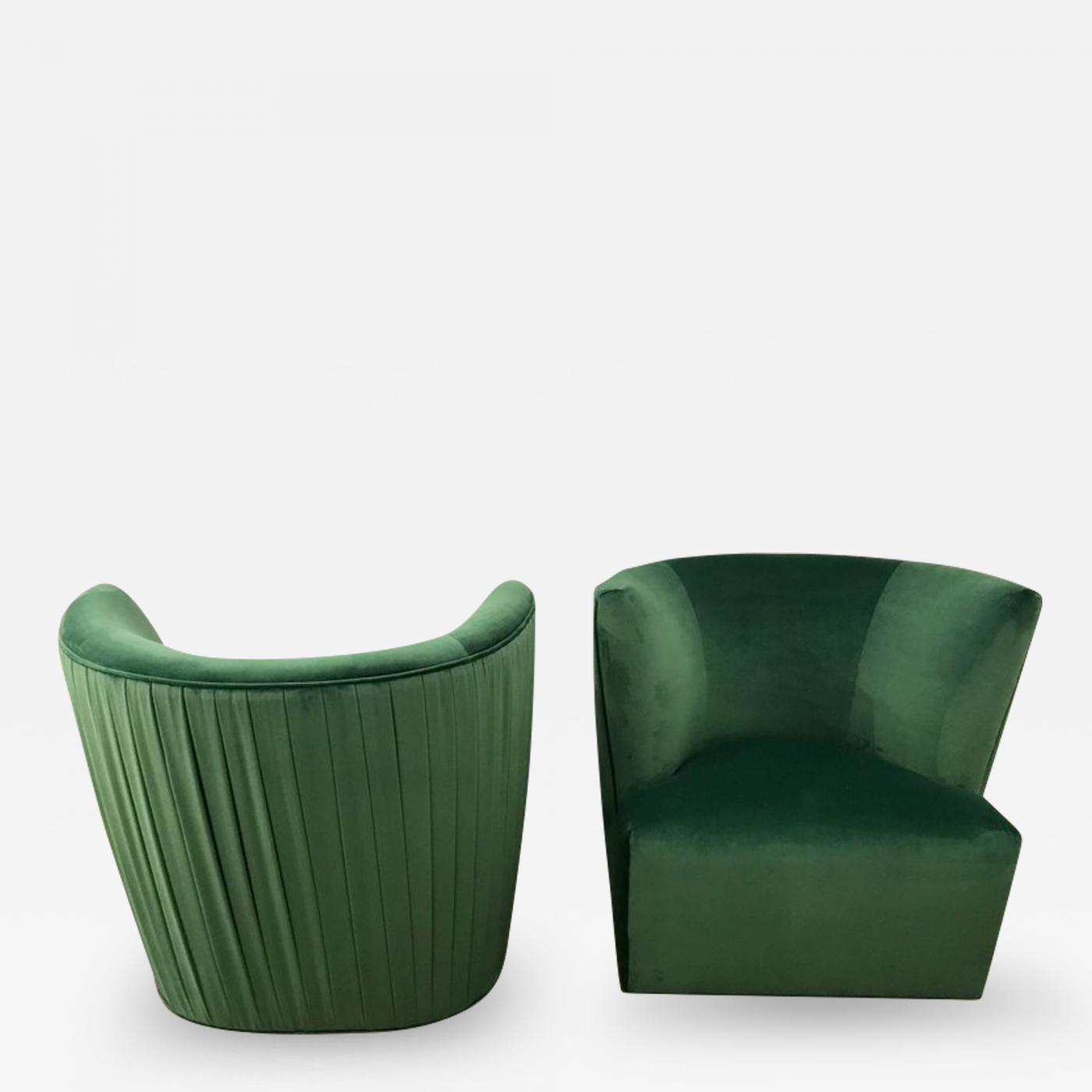 Listings / Furniture / Seating / Lounge Chairs · A Rudin ... & A. Rudin - 20th Century Modern Pr of A. Rudin Emerald Velvet Swivel ...