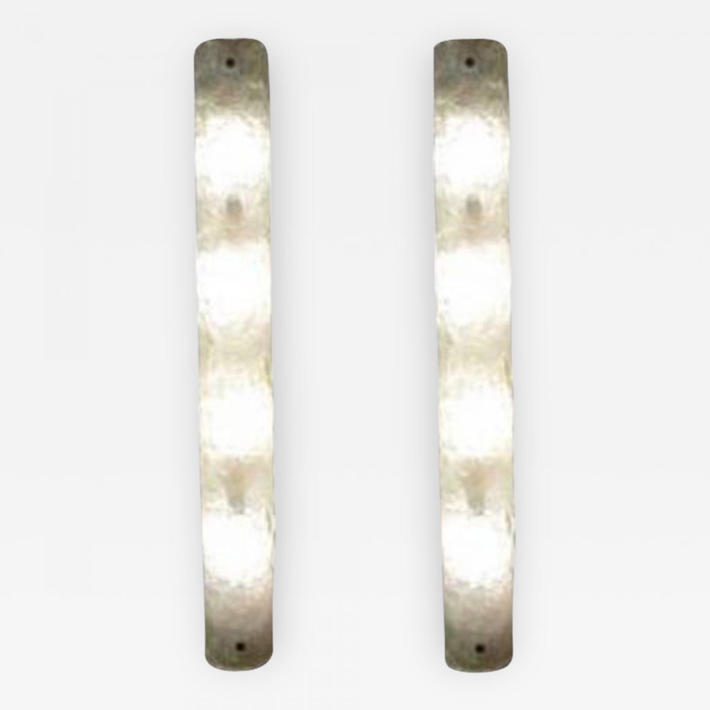 A. V. Mazzega - A Pair of Long Four Light Murano Glass Wall Sconces by Mazzega