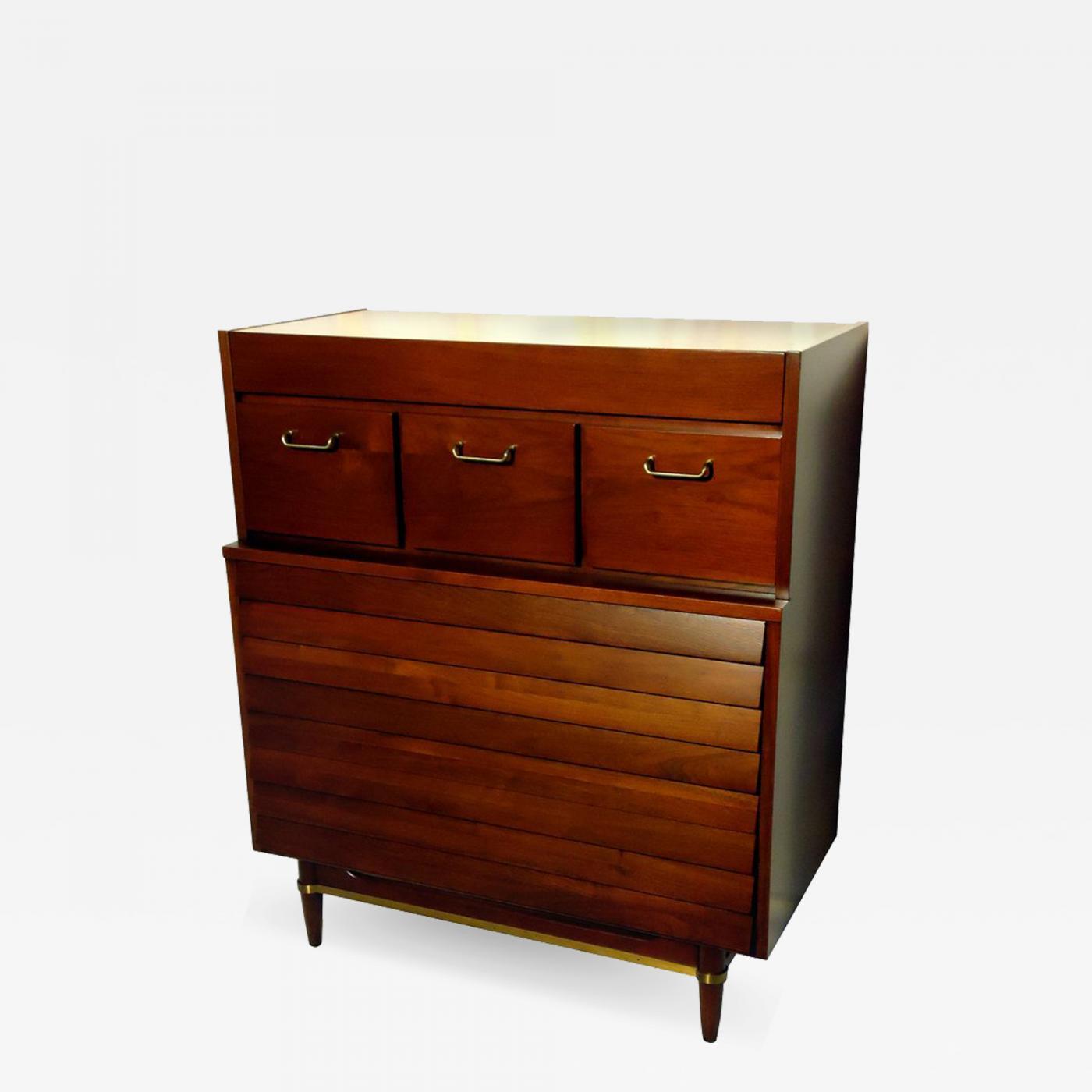 American of Martinsville - American Martinsville Walnut Dresser, circa 1955