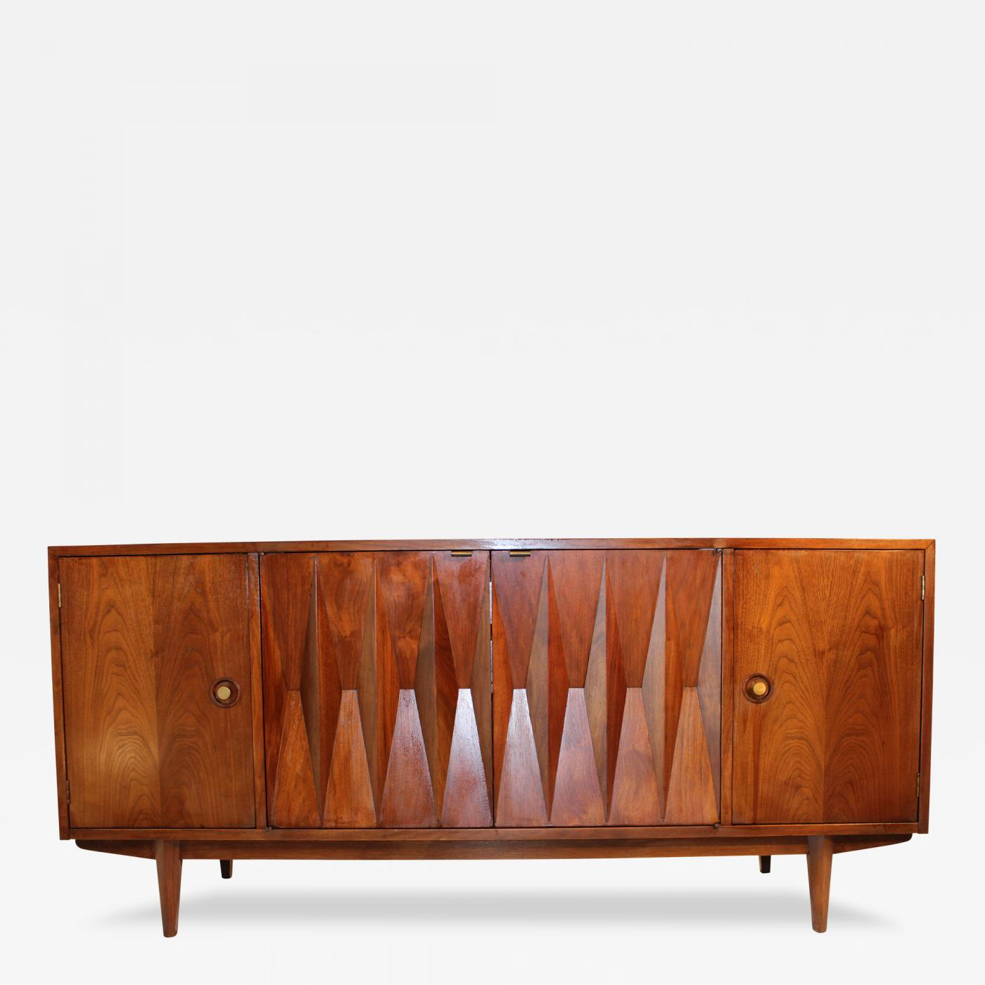 American of Martinsville - Mid Century Danish Modern Walnut Diamond on mid century modern 9 drawer dresser, jesper credenza office storage wood, mid century wood furniture,