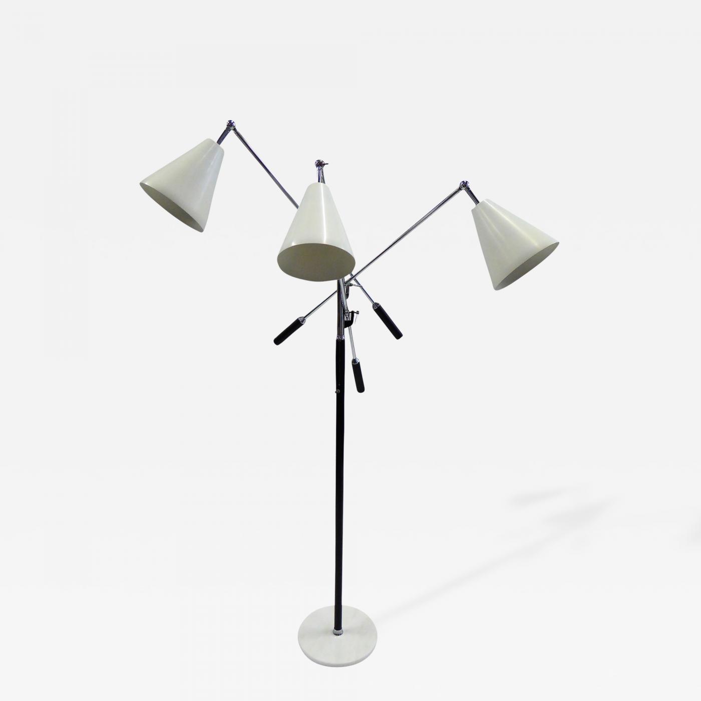 Arredoluce iconic triennale three arm articulating floor for Arredo luce