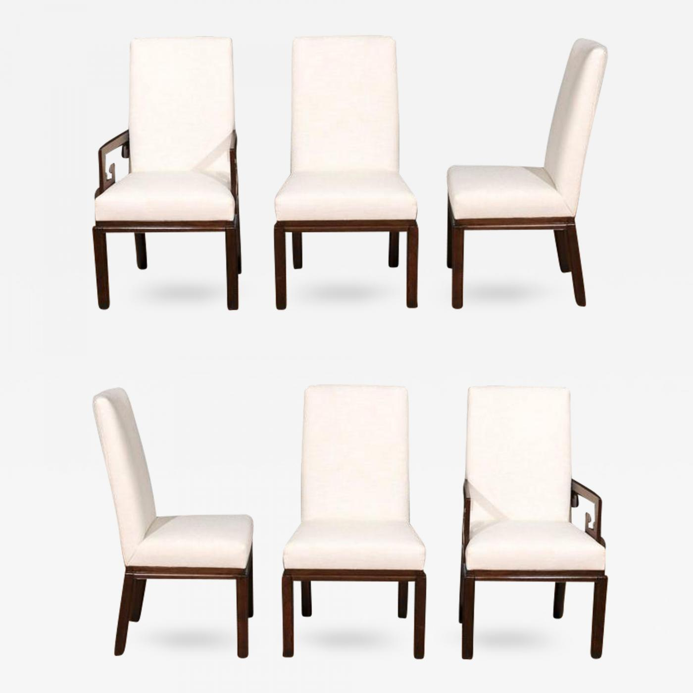 Baker furniture co rare restored set of six parsons style dining chairs by baker