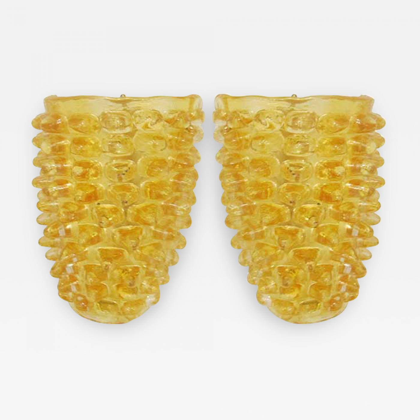 Barovier & Toso - Pair of Murano Glass Wall Sconces by Barovier