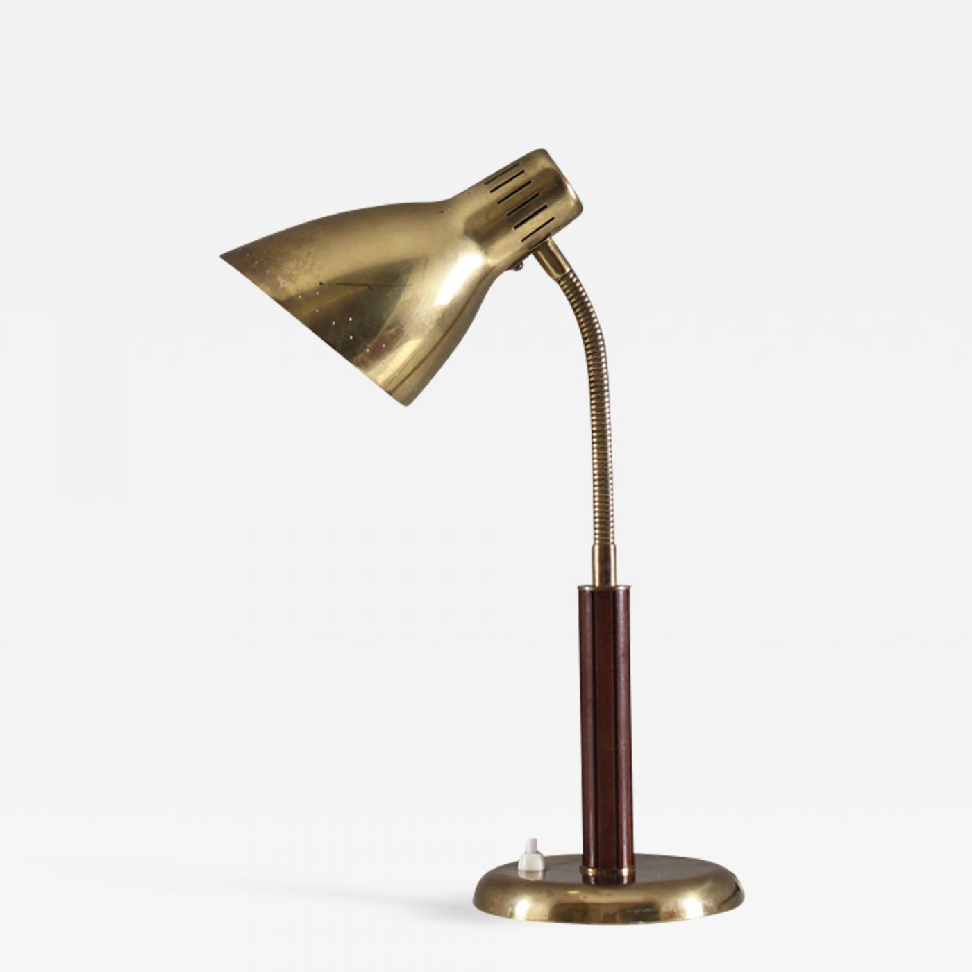 Bohlmarks Ab Swedish Midcentury Table Lamp By Bohlmarks