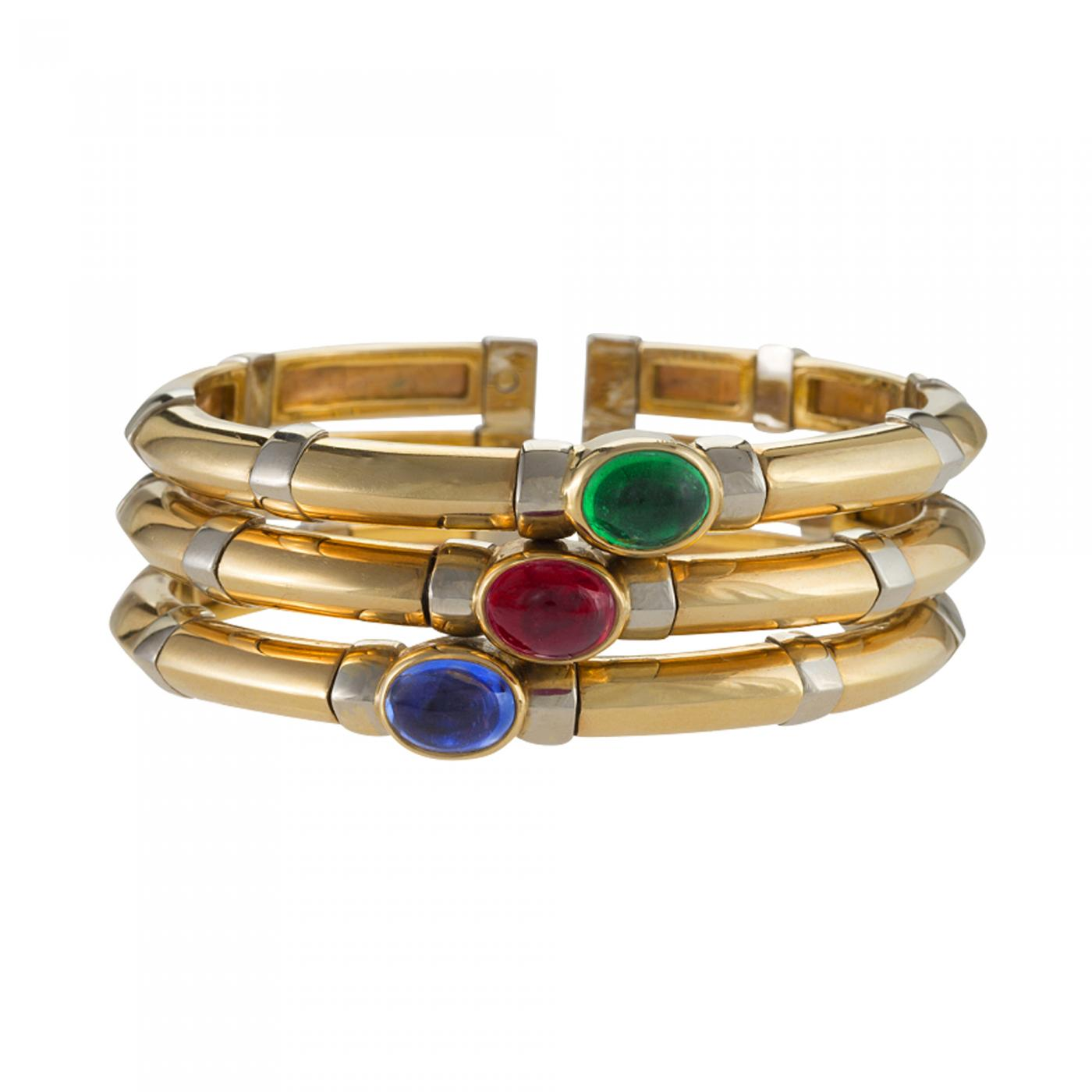 in estate bangle gold cut sapphires fine product machine round home sapphire jewelry bangles modern yellow bracelet