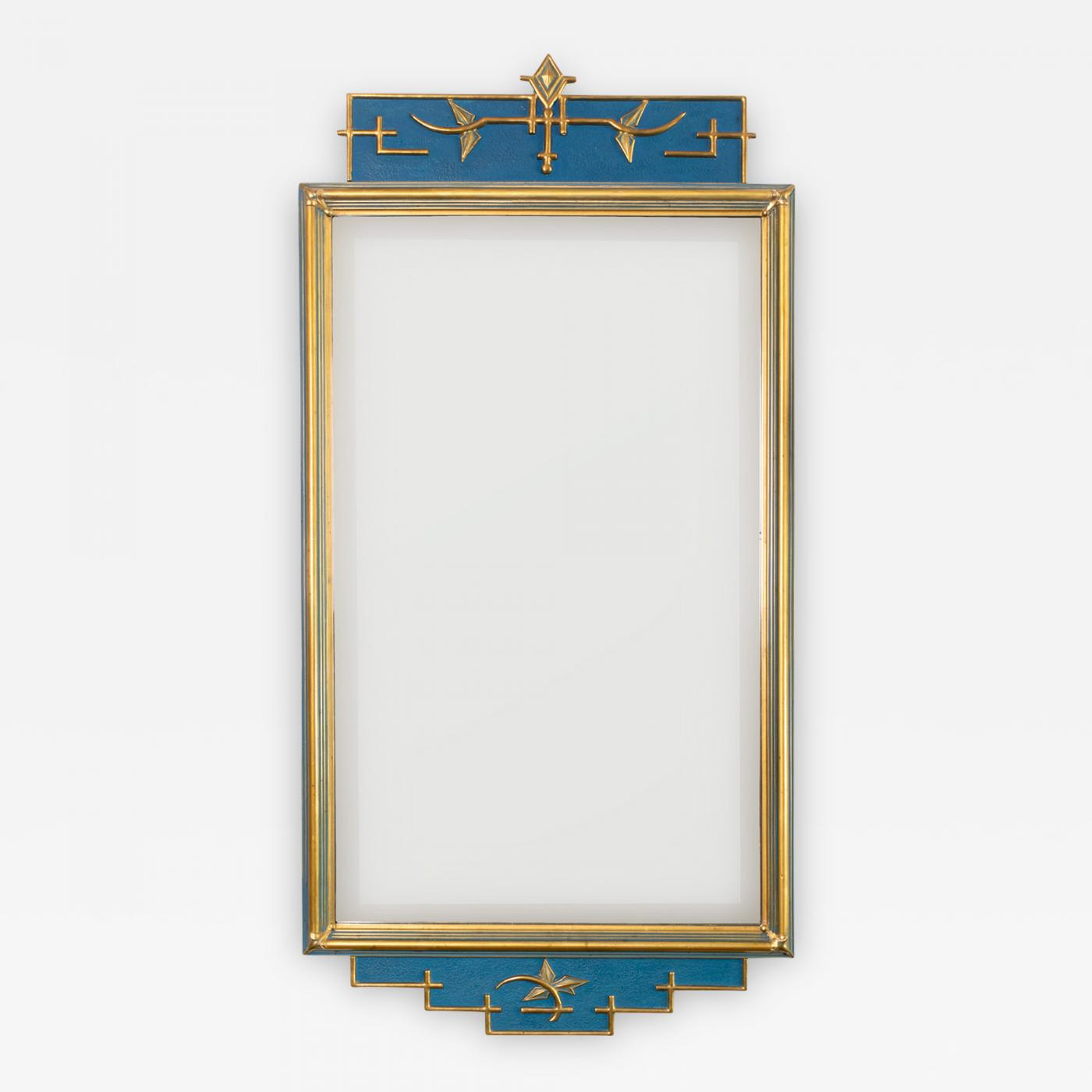 C J Eriksson Co Swedish Art Deco Mirror In Blue And Gold By C J Eriksson Co