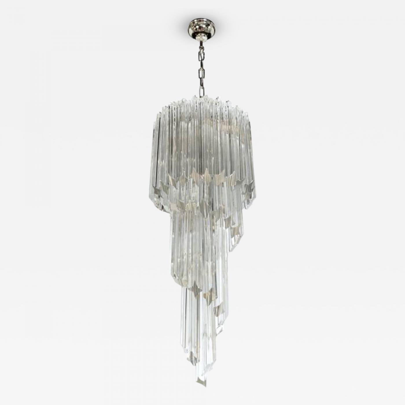 Camer glass 1960s camer crystal spiral chandelier listings furniture lighting chandeliers and pendants aloadofball Image collections