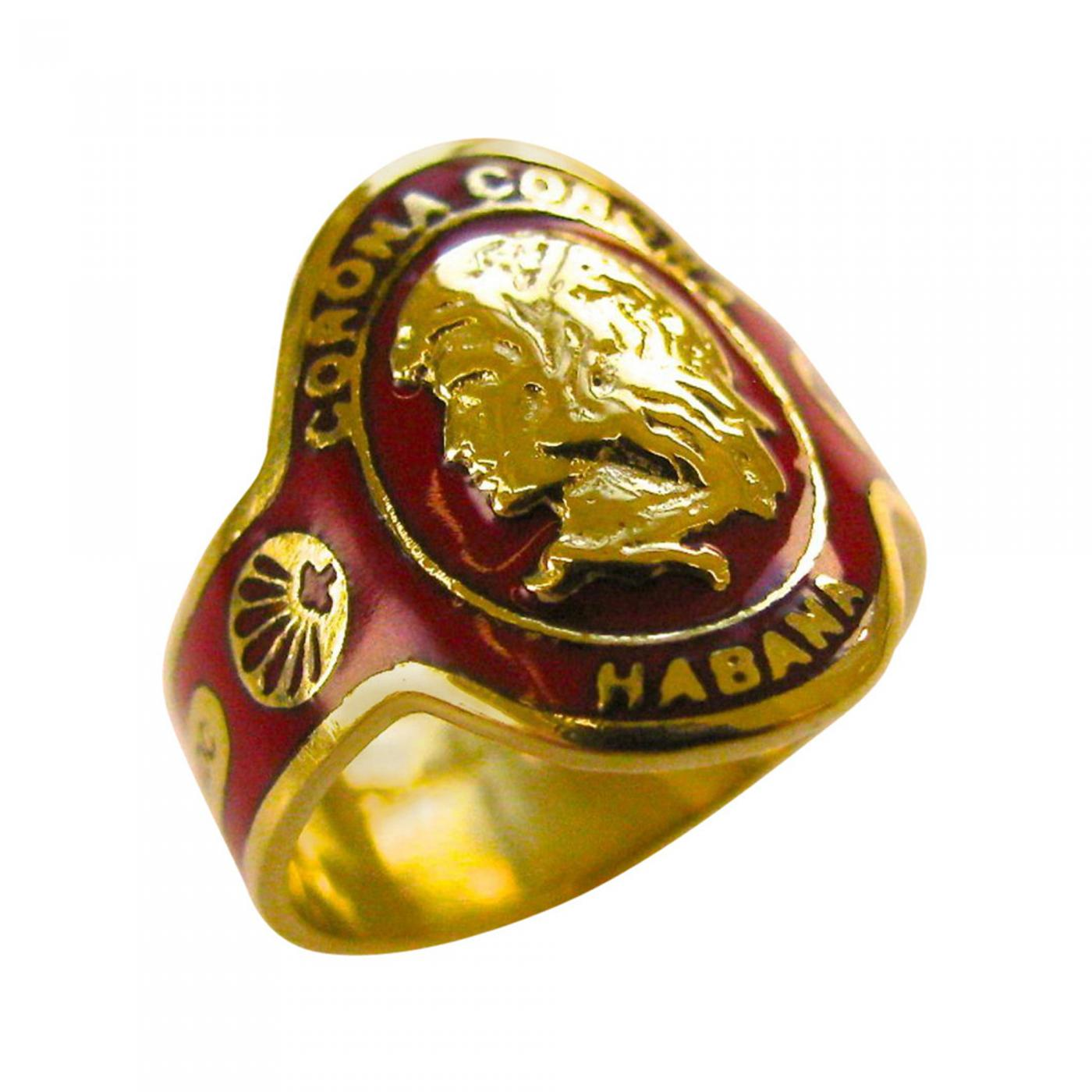enamel en gold lion head versace color rings with versus ring