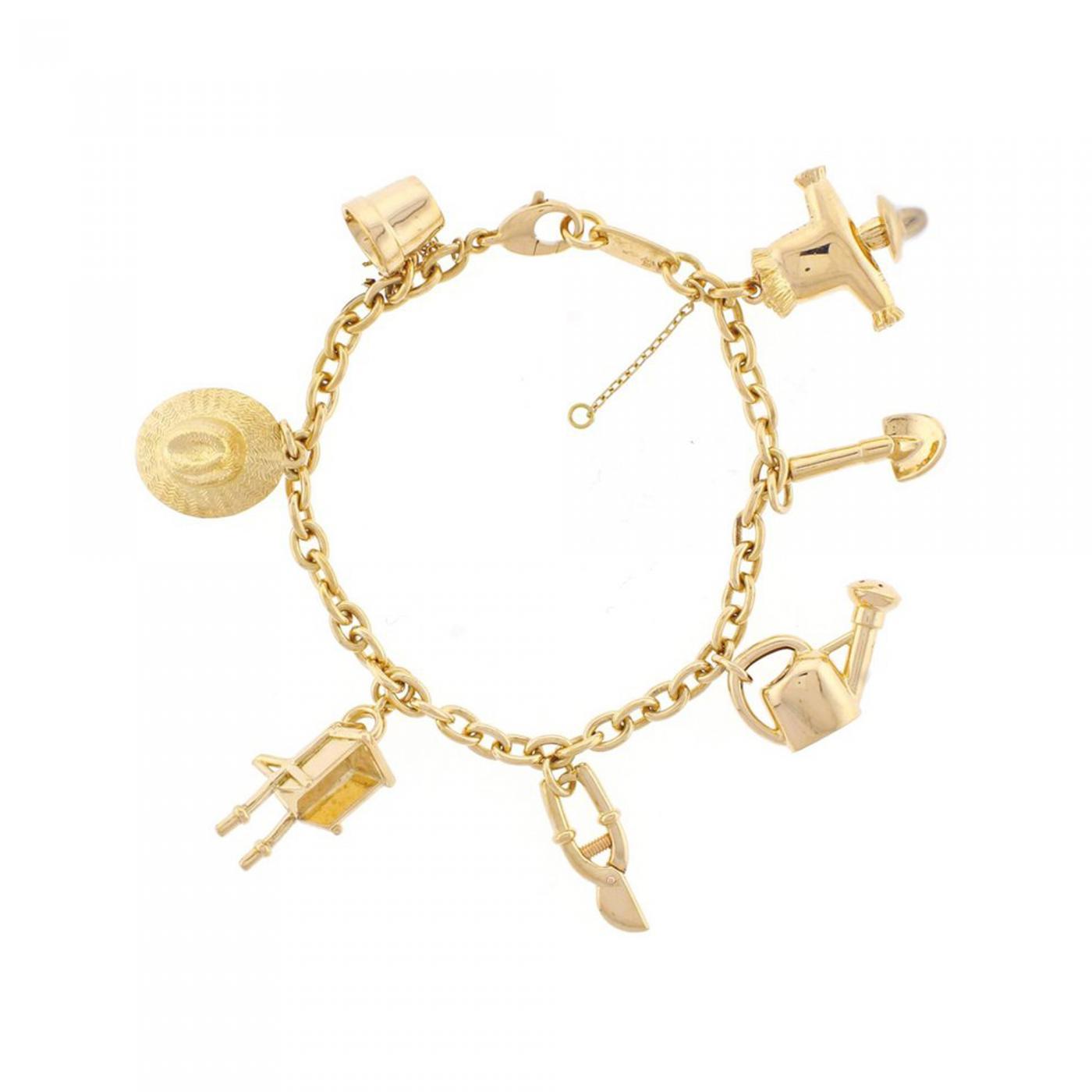 622a9c39fc4c8 Cartier - Cartier Garden Charm Bracelet