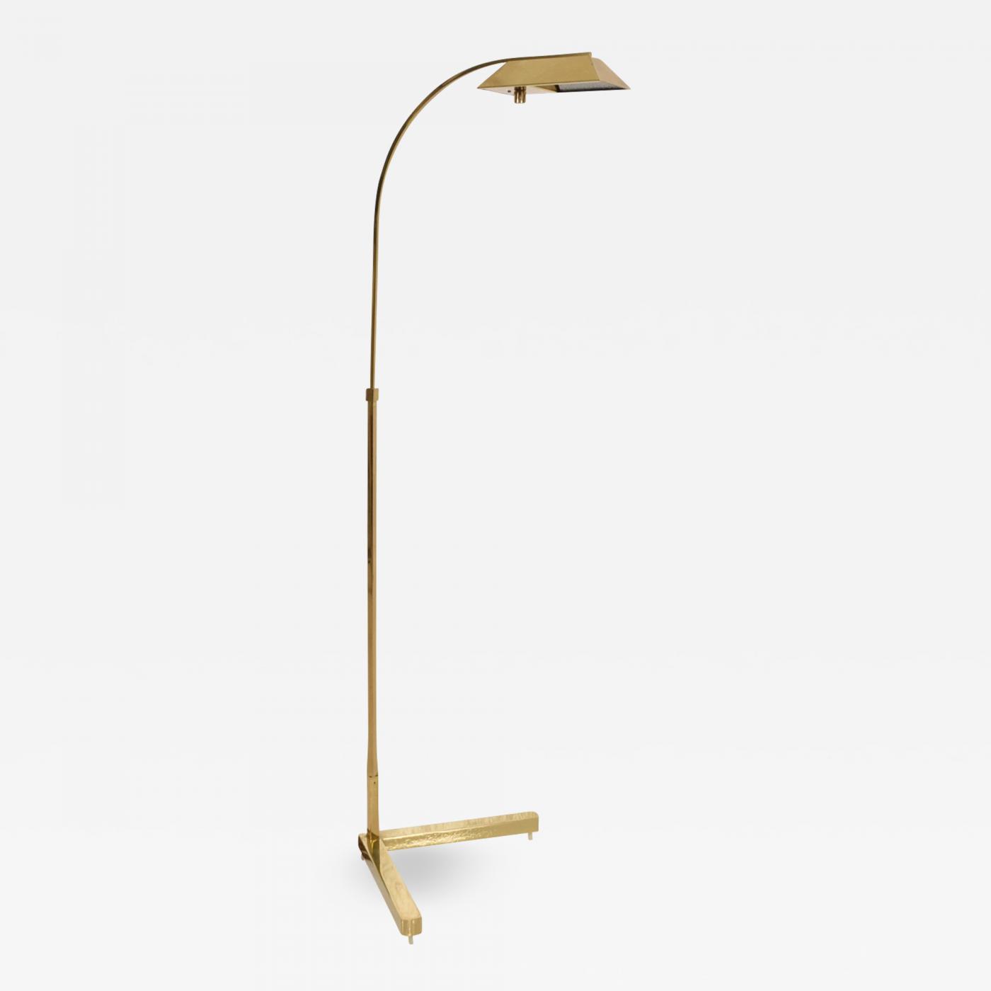 Casella Lighting Mid Century Modern Brass Floor Lamp By Casella