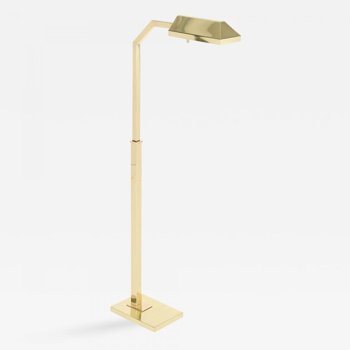 Chapman Mfg Co Quality Brass Floor Lamp By Chapman