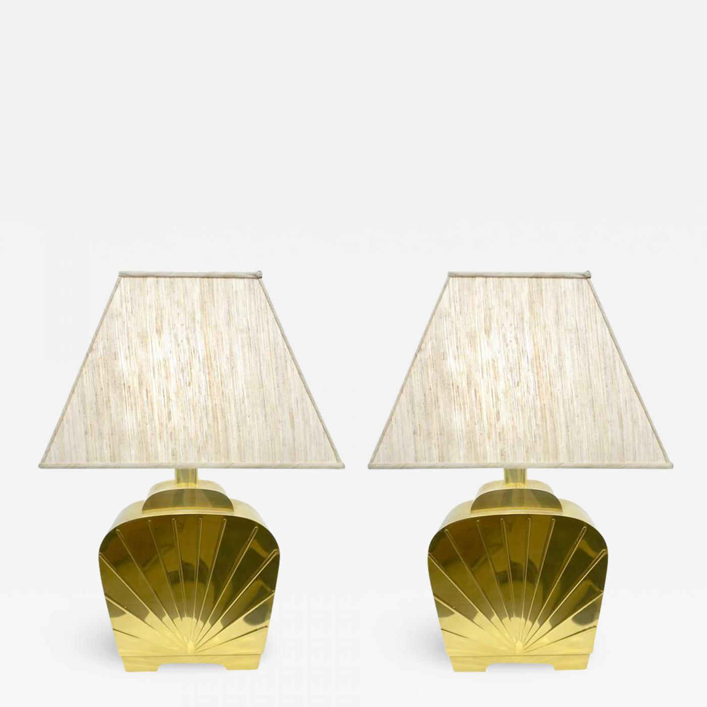 Hollywood Regency Sculptural Brass Lamp