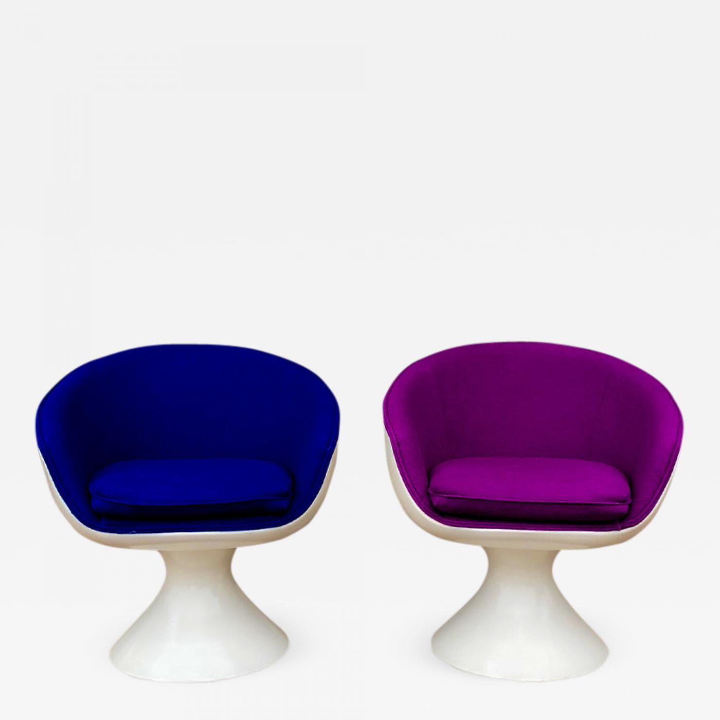 Chromcraft Fiberglass Swivel Chairs & Chromcraft - Chromcraft Fiberglass Swivel Chairs