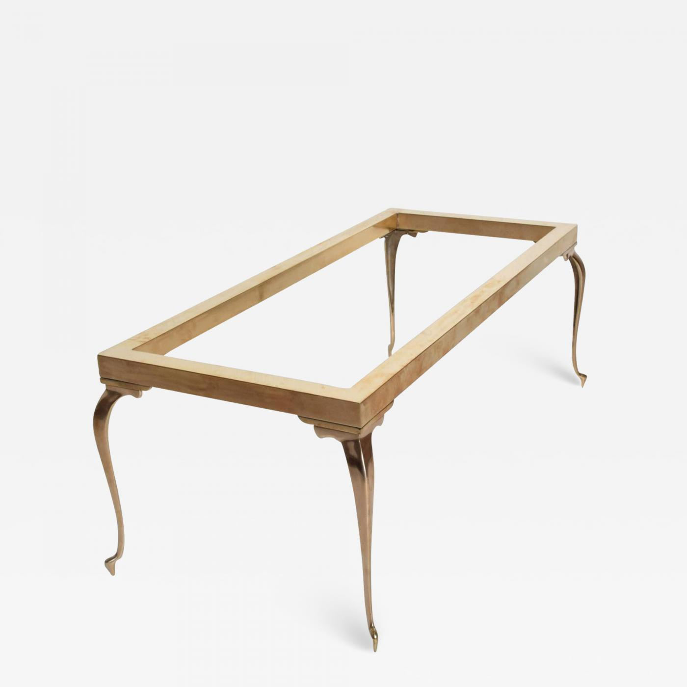 Chromcraft Mid Century Modern Brass Coffee Table After Master Craft
