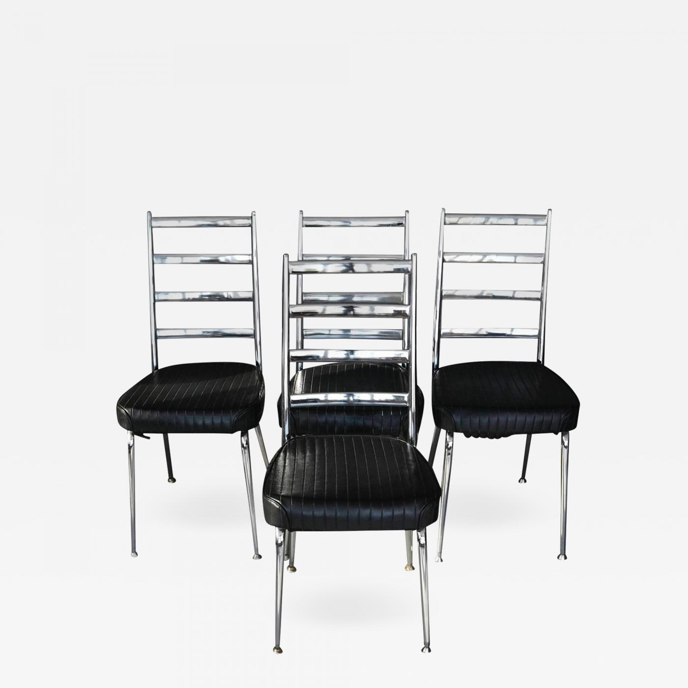 Set of Four Chromecraft Dining Chairs & Chromcraft - Set of Four Chromecraft Dining Chairs